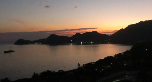 Sunrise over Dili harbour
